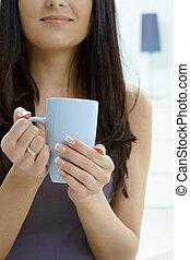 お茶, 女性の保有物, カップ