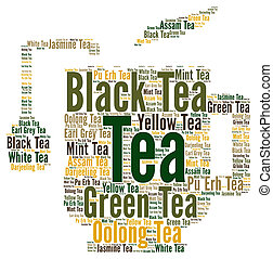 お茶, 概念, 単語, 雲
