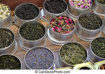 お茶, 様々, ポット, タイプ, 金属