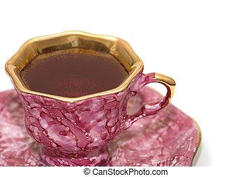 お茶, 白, 隔離された, 背景, カップ