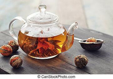 お茶, 花が咲く, 中国語