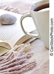 お茶, 読書, 弛緩