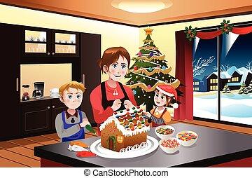 お菓子の家, 子供, 作成, 母