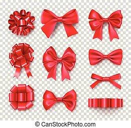 お辞儀をする, リボン, ロマンチック, 贈り物, 赤
