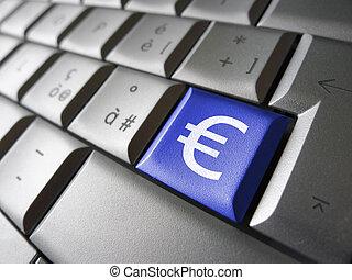 お金の 記号, コンピュータのキー, ユーロ