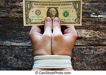 お金の 記号, 男性, -, 奴隷制度, はねるように駆けなさい, 手