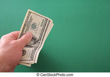 お金, あなたの, 手