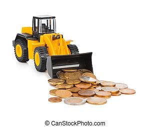 お金, おもちゃ, コイン, 積込み機