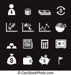 お金, そして, 金融, アイコン