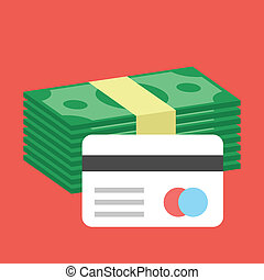 お金, アイコン, ベクトル, カード, クレジット