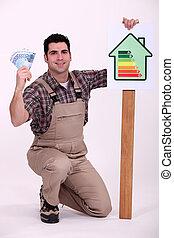 お金, エネルギー, セービング, housebuilder