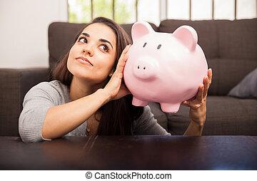 お金, セービング, 貯金箱
