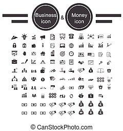 お金, ビジネスオフィス, アイコン