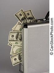 お金, ビルズ, ドル, スーツケース