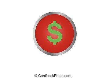 お金, ボタン