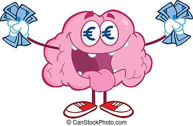 お金, ユーロ, 脳, 情事