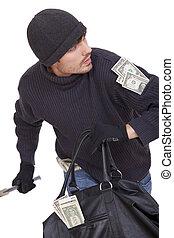 お金, 動くこと, 銀行強盗