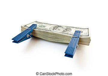 お金, 山, 隔離された, 大きい