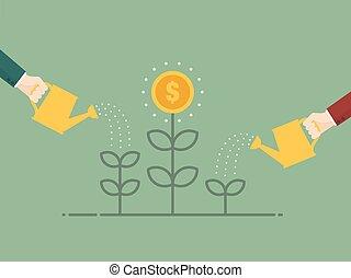 お金, 成長