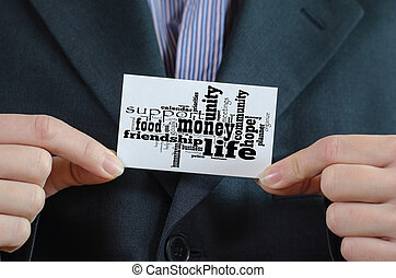 お金, 概念, 単語, 雲, ビジネス