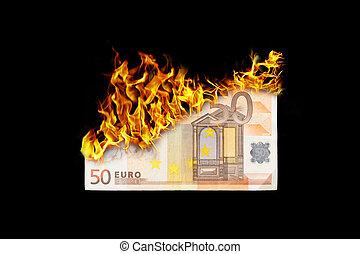 お金, 燃焼
