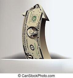 お金, 矢, 背景