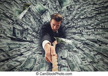 お金, 穴, 黒