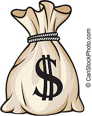 お金 袋, ∥で∥, ドル記号