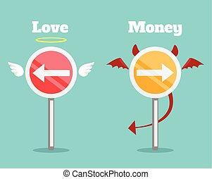 お金, 選択, 愛, ∥間に∥