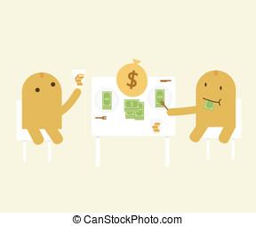 お金, 食べる人