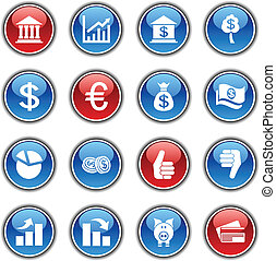 お金, buttons.