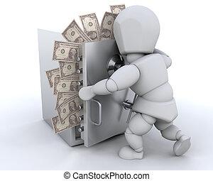 お金, stashing