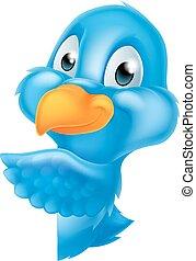 かいま見ること, bluebird, のまわり, 印