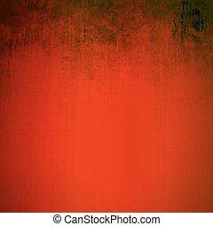 かく, グランジ, 芸術的, 背景, 赤