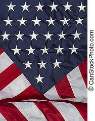 かけられた, 背景, アメリカの旗