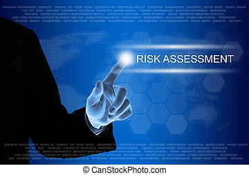 かちりと鳴ること, ビジネス, 感触, リスクアセスメント, スクリーン, 手, ボタン