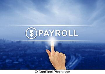 かちりと鳴ること, ボタン, 給料支払い名簿, 手, タッチスクリーン