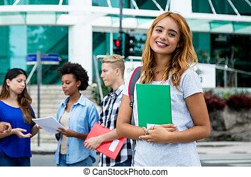 かなり, アメリカ人, 女子学生, ∥で∥, グループ, の, インターナショナル, 人々