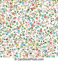 かなり, 手ざわり, seamless, flowers., ごく小さい