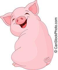 かなり, 豚