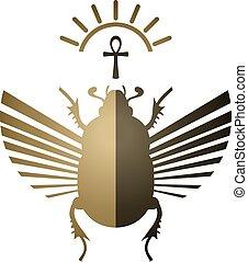 かぶと虫, シンボル, 想像力が豊かである, エジプト