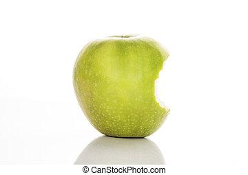 かまれた, 緑のリンゴ