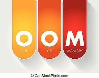 から, 記憶, -, oom, 頭字語