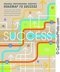 から, 道, 成功, 地図に表わされた