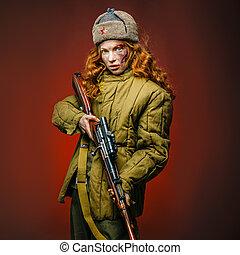 かわいい少女, soviet 合併, 歴史の再演化, 軍隊