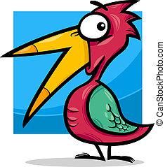 かわいい, わずかしか, 鳥, イラスト, 漫画