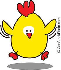 かわいい, わずかしか, 鶏