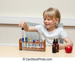 かわいい, わずかしか, chemistry;, 色, 酸, 別, (lakmus, btb), 産物, ベース, 反応, 使うこと, 女の子, 遊び, 表示器