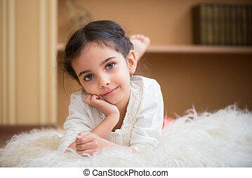 かわいい, わずかしか, latino, 女の子, 肖像画