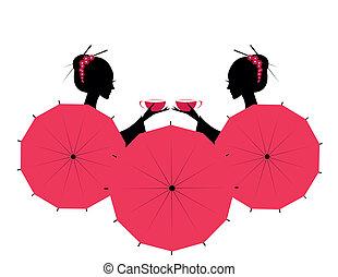 かわいい, アジア人, 女の子, 特徴
